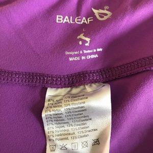 Baleaf Pants - Baleaf Size Large Purple Cropped Workout Leggings
